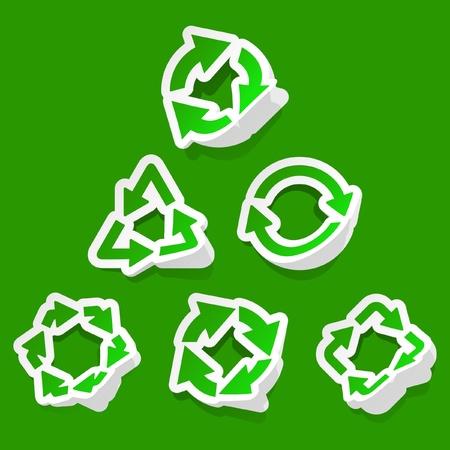 Recycle symbol. Vector set.   Vector