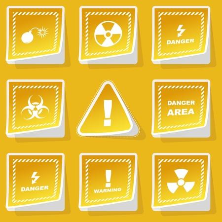 ejaculation: Warning vector sticker set.