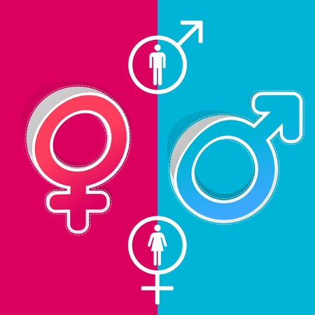 Male and female symbol. Vector set. Stock Vector - 9021994
