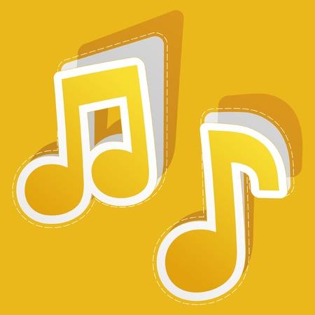 벡터 음악 스티커 세트