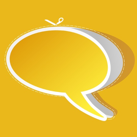 Vector speech bubble. Sticker Vector