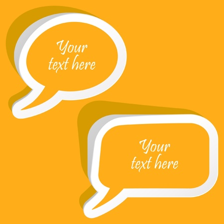 feedback link: Vector speech bubble. Vector set.