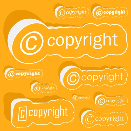 COPYRIGHT. Vector illustration.   Vector