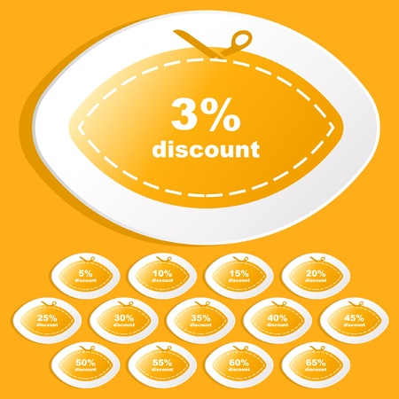 Discount sticker set for sale Stock Vector - 9022015