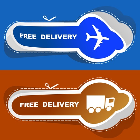 Free delivery element set for sale Stock Vector - 9021992