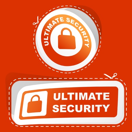 Ultimate security. Stock Vector - 9021988