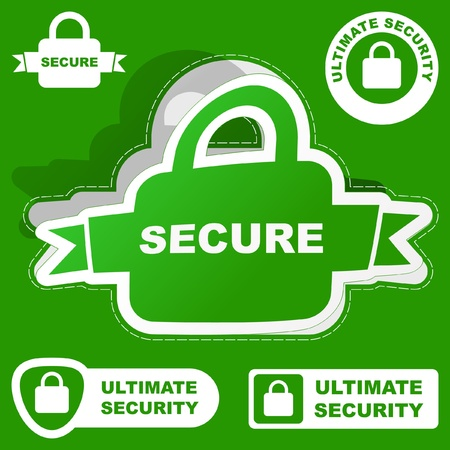 SECURE. Vector collection. Vector