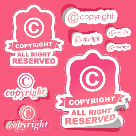 COPYRIGHT. Vector set. Vector