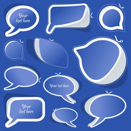 Speech bubbles. Vector set.   Vector