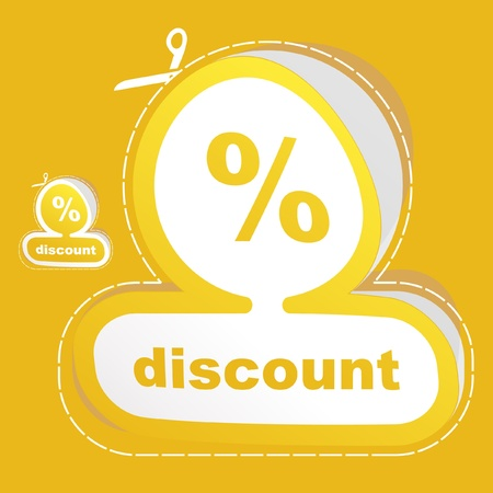 DISCOUNT. Vector illustration. Vector