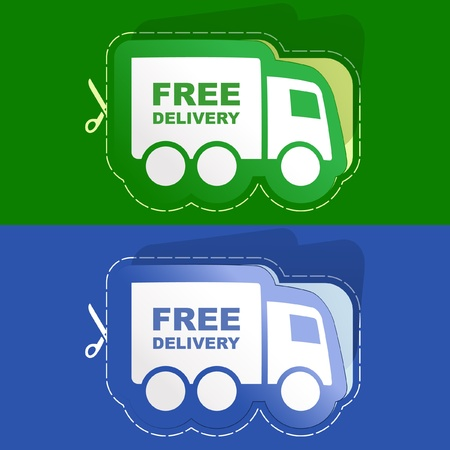 Free delivery element set for sale. Vector