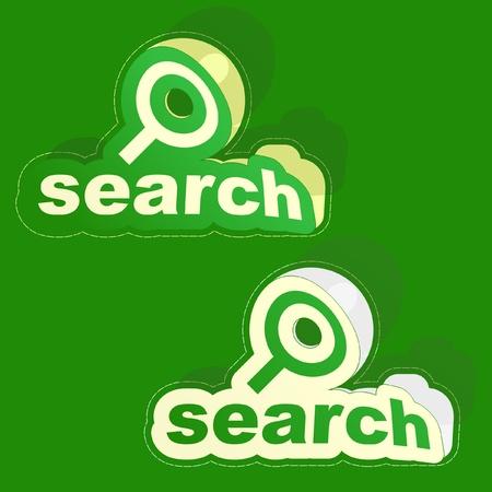 SEARCH. Vector illustration. Stock Vector - 9002268