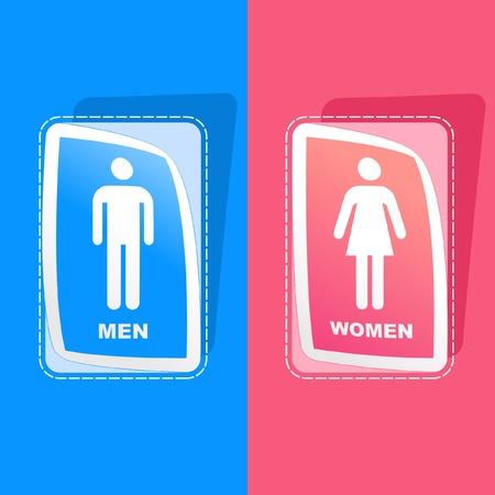 Men and women sticker set. Stock Vector - 9002259