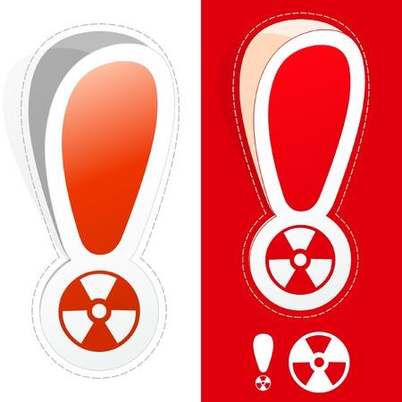 Radiation signs. Illustration