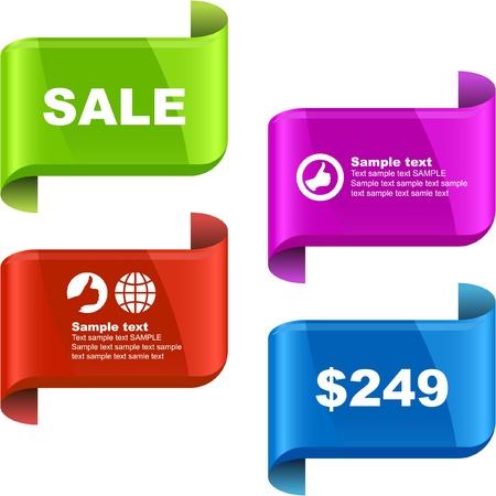 Vector set of sale design elements   Stock Vector - 9397304