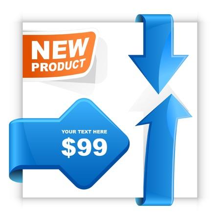 abatement: Vector set of sale design elements