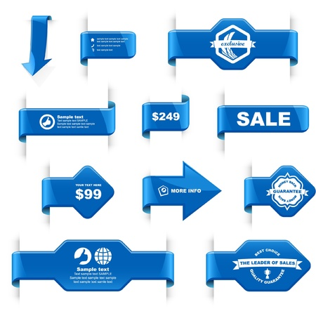 Set of design elements for sale. Stock Vector - 9901900