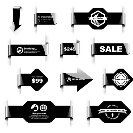 cost reduction: Vector set of sale design elements