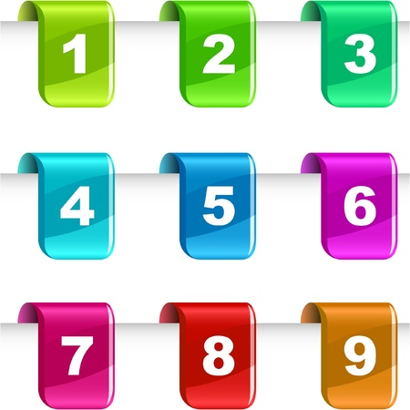 sept: Num�ros. illustration. Illustration