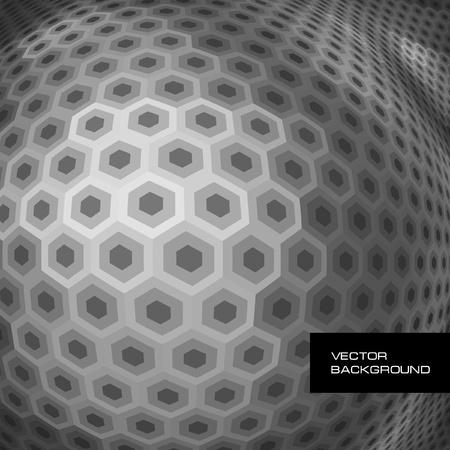 Abstract hexagon mosaic.   Vector