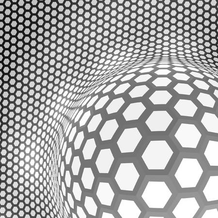 Abstract hexagon mosaic. Stock Vector - 9396844