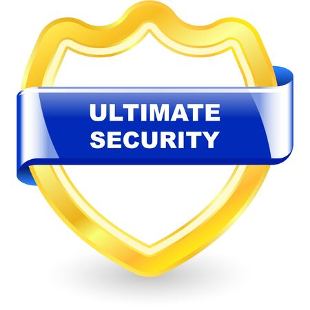 Ultimate security illustration. Vector