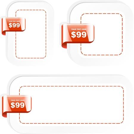 Vector set of sale design elements Stock Vector - 9396729