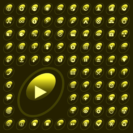 icon set Stock Vector - 9901715