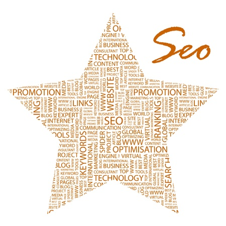 SEO. Word collage on white background. Stock Vector - 9401013
