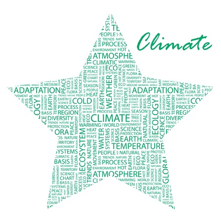 CLIMATE. Word collage on white background. Vector