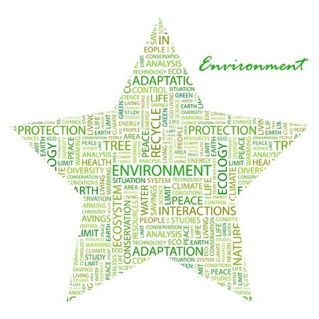 ENVIRONMENT. Word collage on white background. Vector illustration. Illustration with different association terms. Stock Vector - 9409222