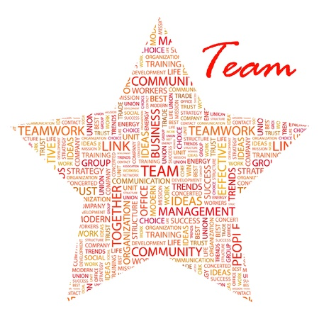 TEAM. Word collage on white background. Stock Vector - 9901966