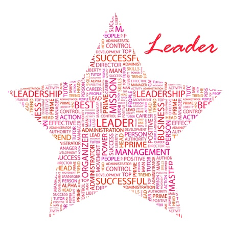 kingpin: LEADER. Word collage on white background illustration. Illustration with different association terms.    Illustration