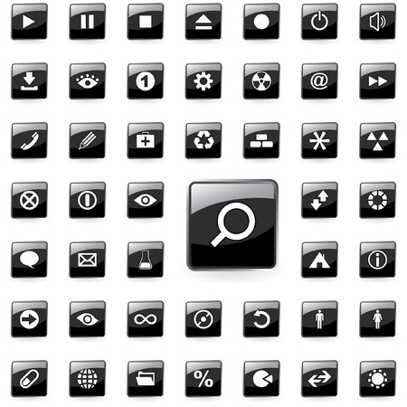 Web buttons. Vector