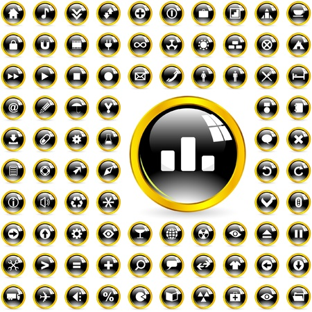 Great collection of web buttons Stock Vector - 9409181