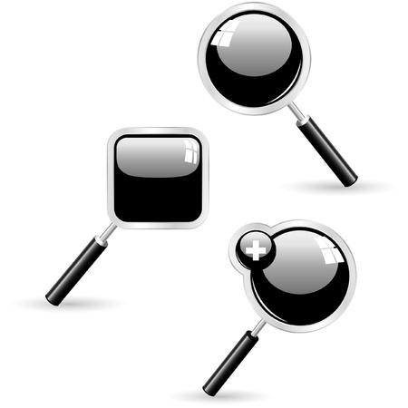 Vector search icons. Vector set.   Vector
