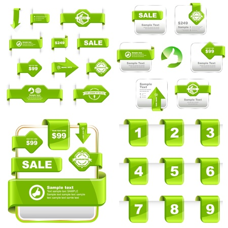 procent: Vector set of sale design elements