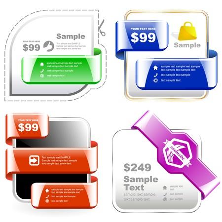 rebate: Vector set of sale design elements
