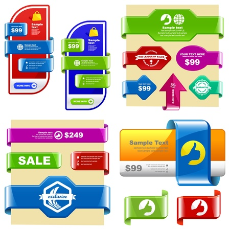 Vector set of sale design elements   Stock Vector - 9409210