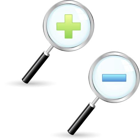 Vector search icons. Vector set. Stock Vector - 9409078