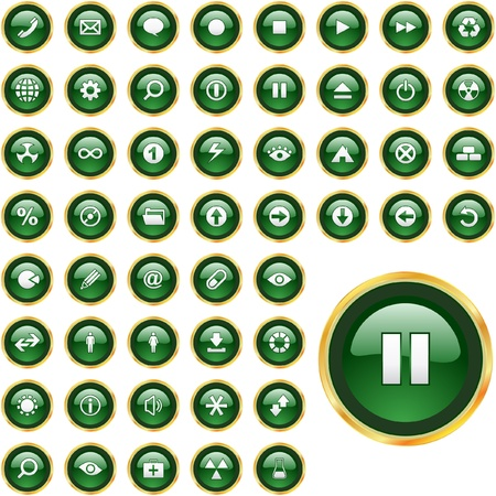 Vector icon set Stock Vector - 9409131