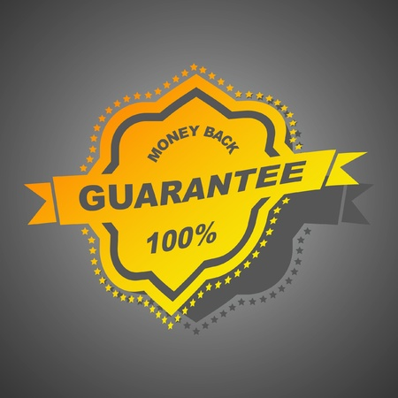 Vector guarantee label.   Vector