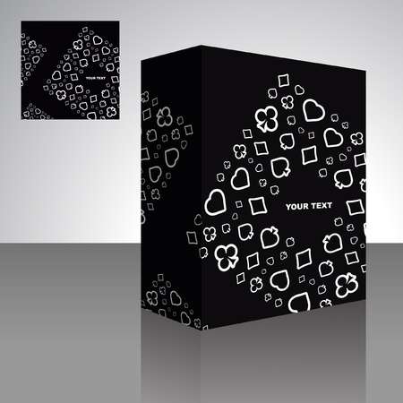jack pack: Abstract packaging box. Vector illustration of card symbolic.
