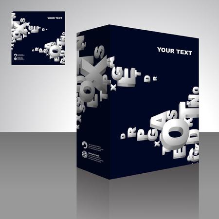 Vector packaging box. Abstract illustration.   Vector