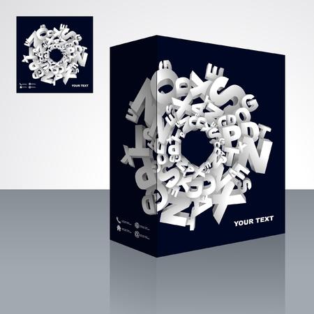Vector packaging box. Abstract illustration. Stock Vector - 9409187