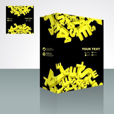 Vector packaging box. Abstract illustration. Stock Vector - 9409196