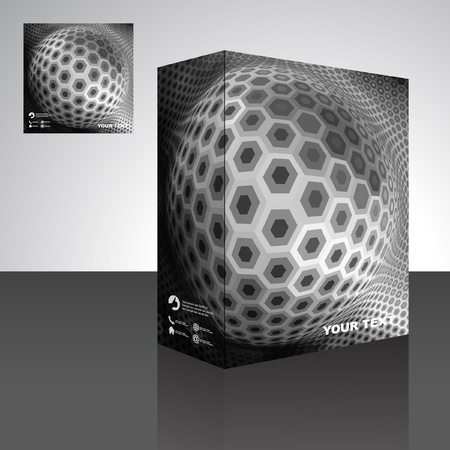 Sphere. Vector packaging box. Abstract illustration.   Vector