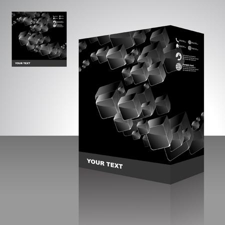 Vector packaging box. Abstract illustration. Stock Vector - 9409194