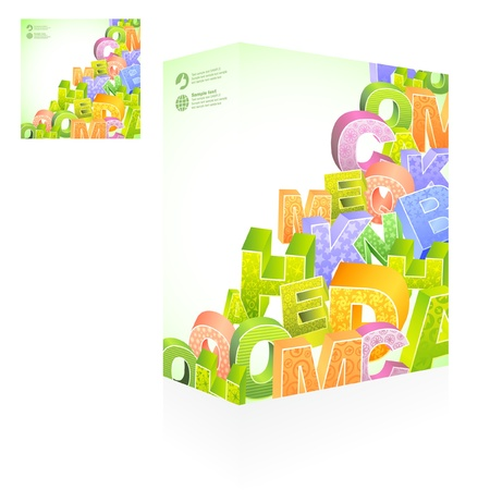 Vector packaging box. Abstract illustration.   Vector