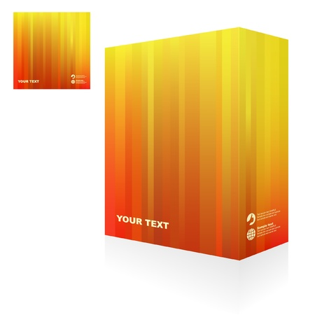 Vector packaging box. Abstract illustration. Stock Vector - 9409137